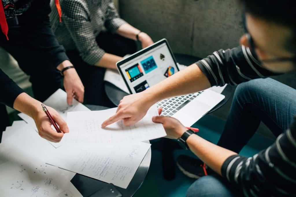 team setting up marketing automation