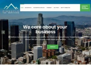 Pinnacle Tax Services - example of accounting websites