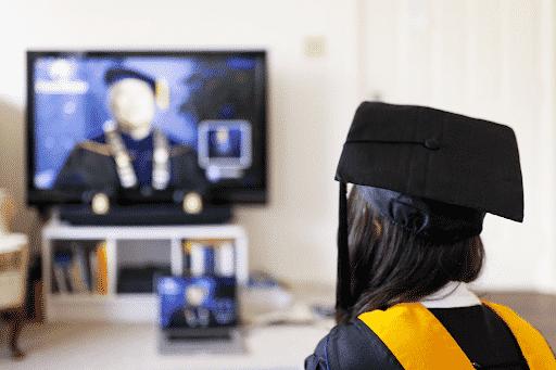 Image of a virtual graduation