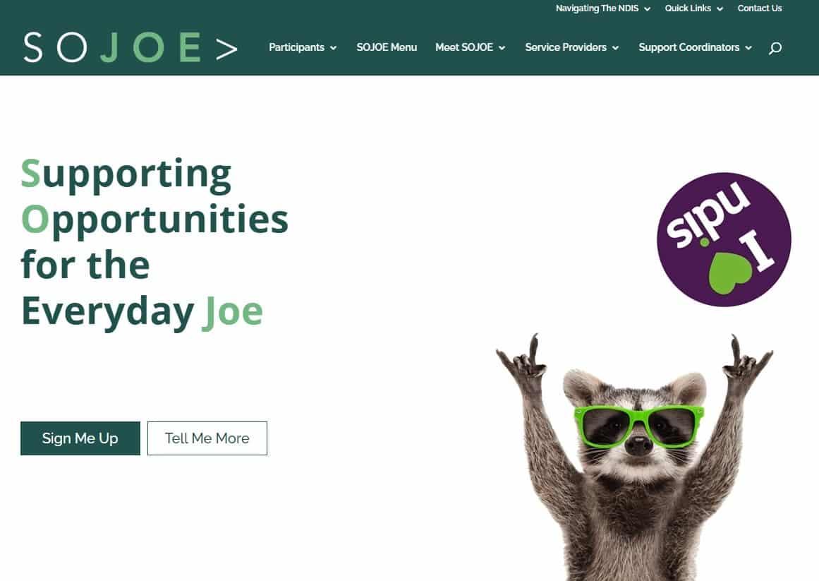 SoJoe website by Four Drunk Parrots